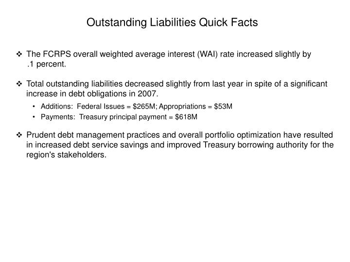 Outstanding Liabilities Quick Facts