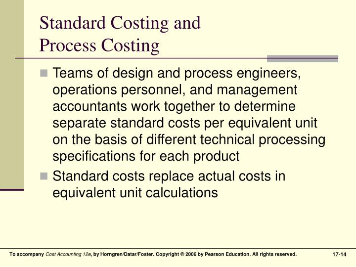 Standard Costing and
