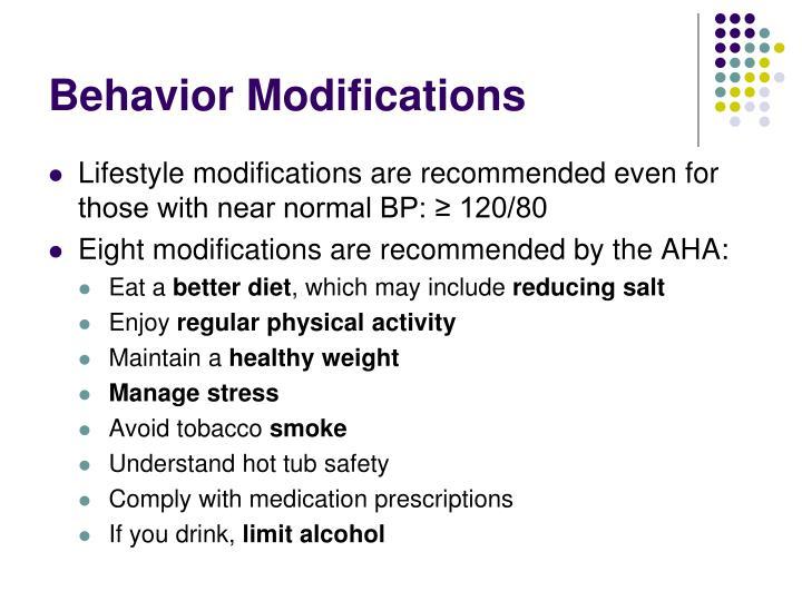 Behavior Modifications