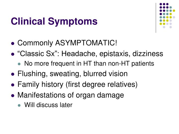 Clinical Symptoms