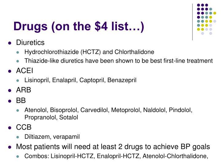 Drugs (on the $4 list…)