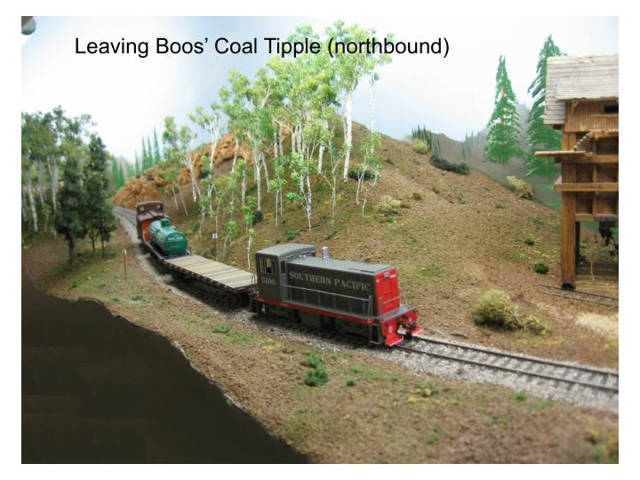 Leaving Boos' Coal Tipple (northbound)