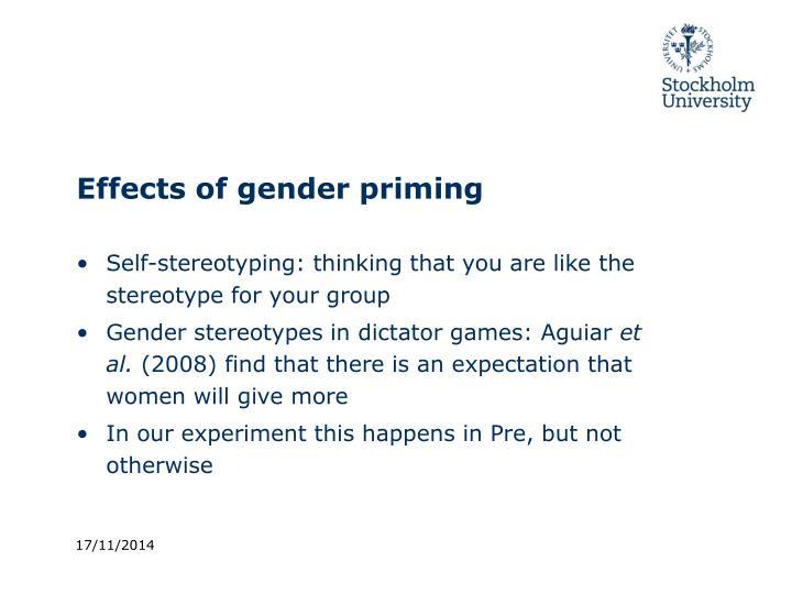 Effects of gender priming