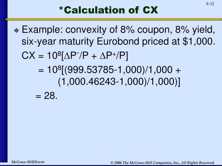 *Calculation of CX