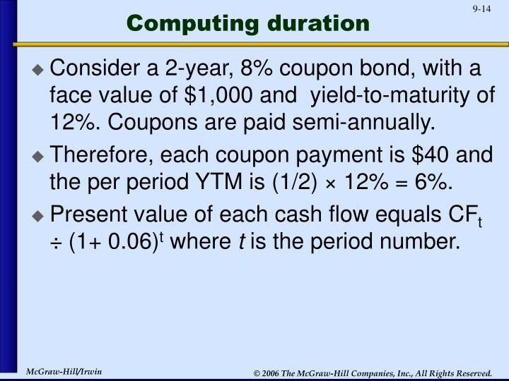 Computing duration