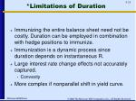 limitations of duration
