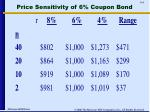 price sensitivity of 6 coupon bond