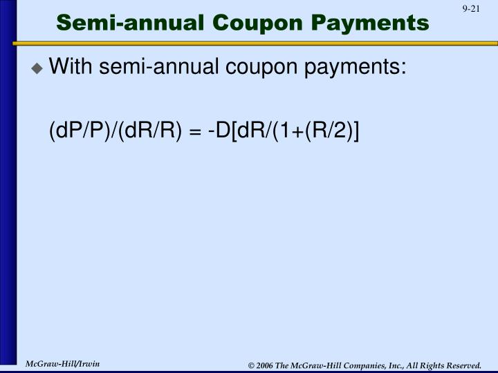 Semi-annual Coupon Payments