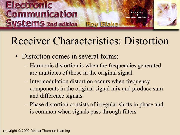 Receiver Characteristics: Distortion