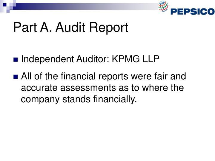 Part A. Audit Report