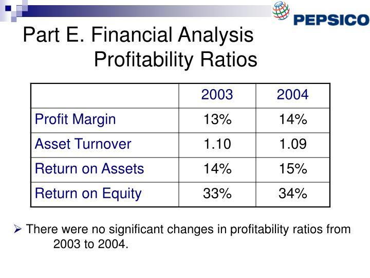 Part E. Financial Analysis