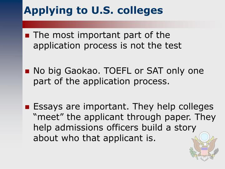 Applying to U.S. colleges
