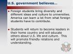 u s government believes