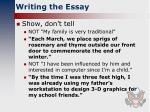writing the essay2