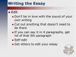 writing the essay3