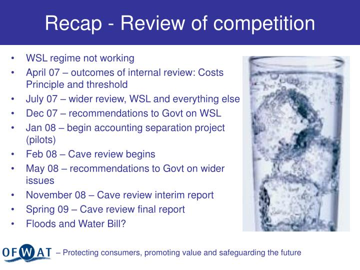 Recap - Review of competition