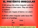 el pret rito irregular1