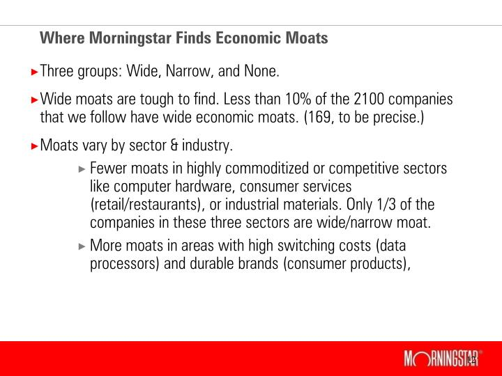 Where Morningstar Finds Economic Moats