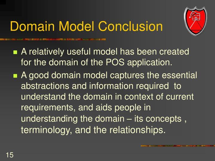 Domain Model Conclusion