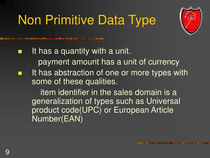 Non Primitive Data Type