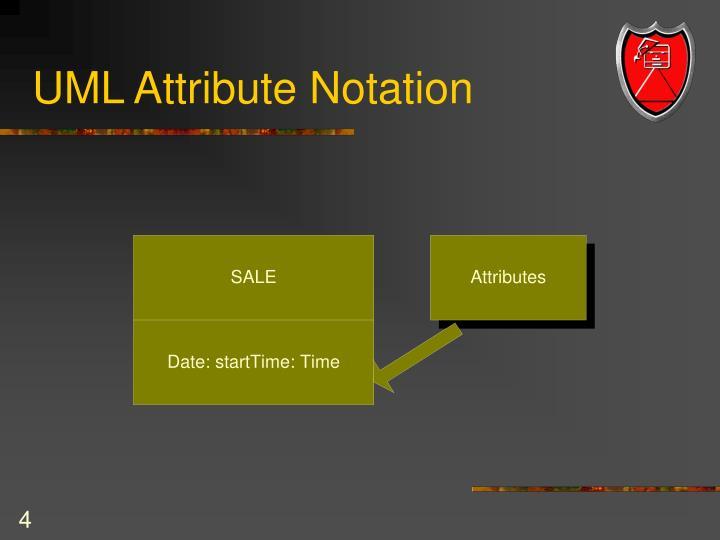UML Attribute Notation