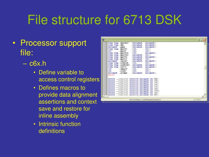File structure for 6713 dsk1