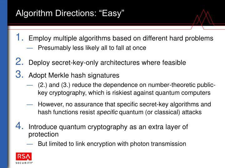 """Algorithm Directions: """"Easy"""""""