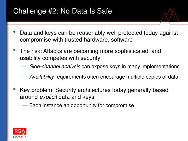Challenge #2: No Data Is Safe