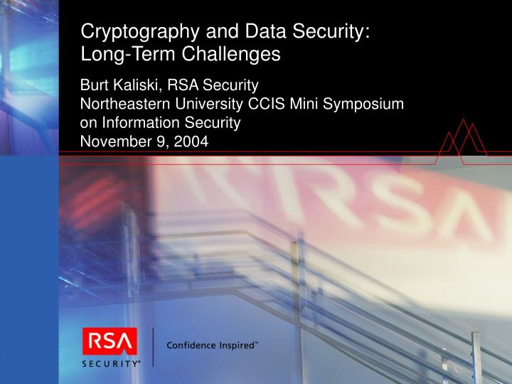 Cryptography and Data Security: