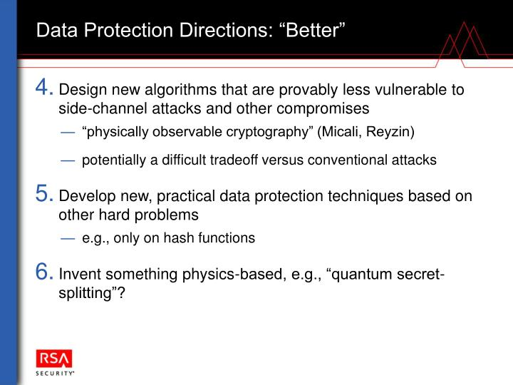 """Data Protection Directions: """"Better"""""""
