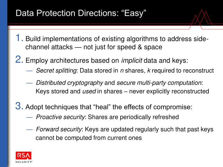 """Data Protection Directions: """"Easy"""""""