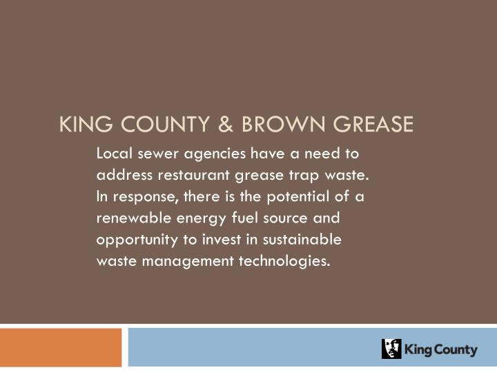 King County & Brown Grease