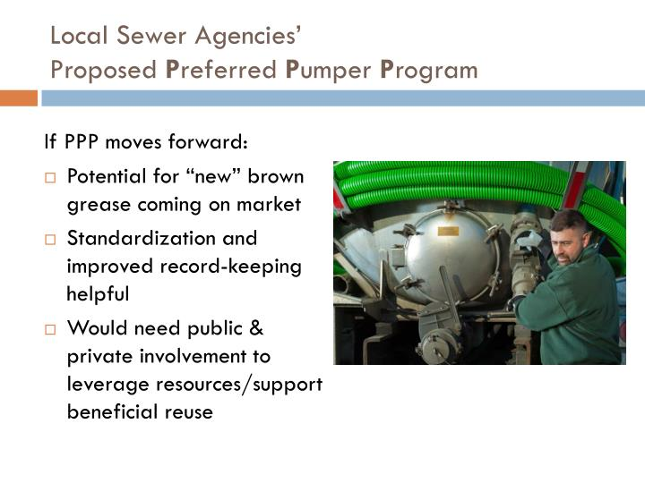 Local Sewer Agencies'