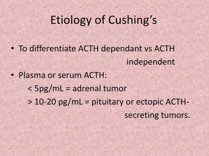 Etiology of Cushing's