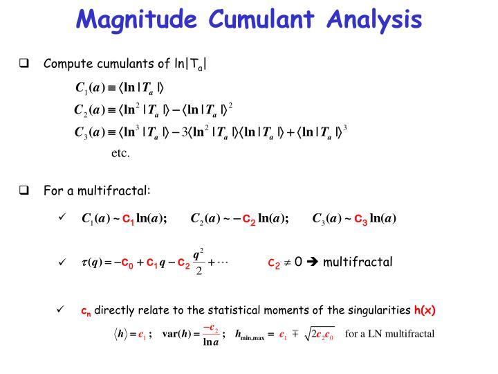 Magnitude Cumulant Analysis