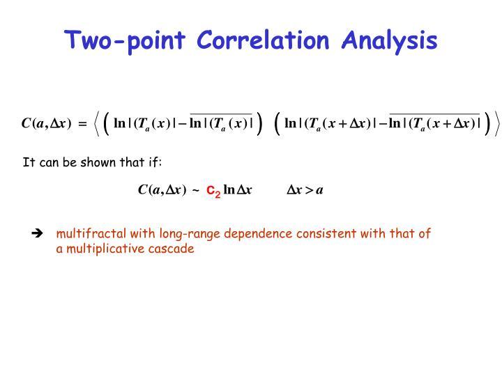Two-point Correlation Analysis