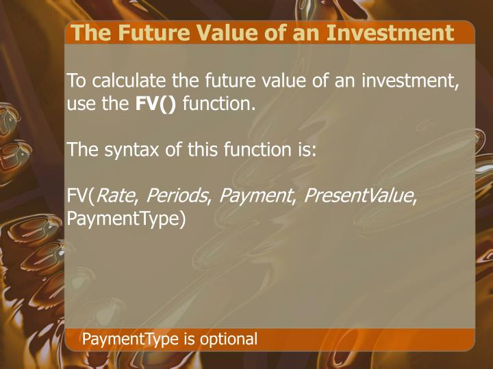 The Future Value of an Investment