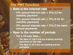 the pmt function1