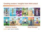 creating avatars insights from think aloud