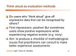 think aloud as evaluation methods