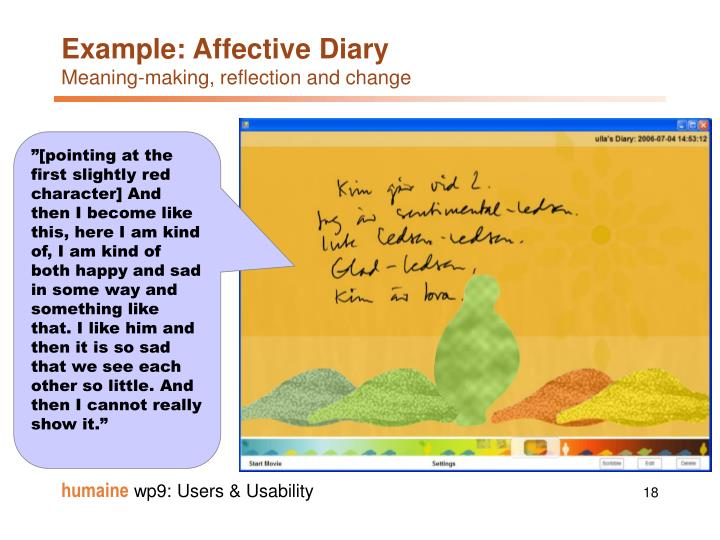 Example: Affective Diary