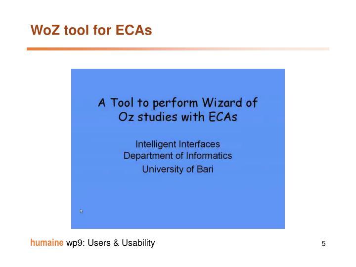 WoZ tool for ECAs