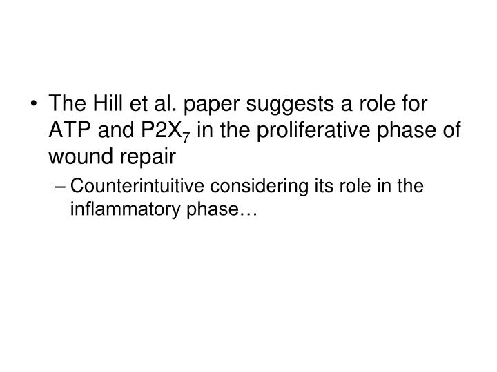 The Hill et al. paper suggests a role for ATP and P2X