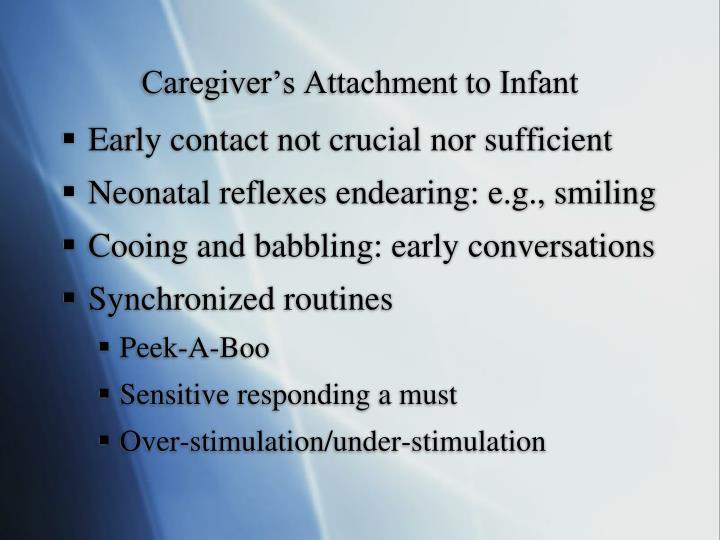 Caregiver's Attachment to Infant