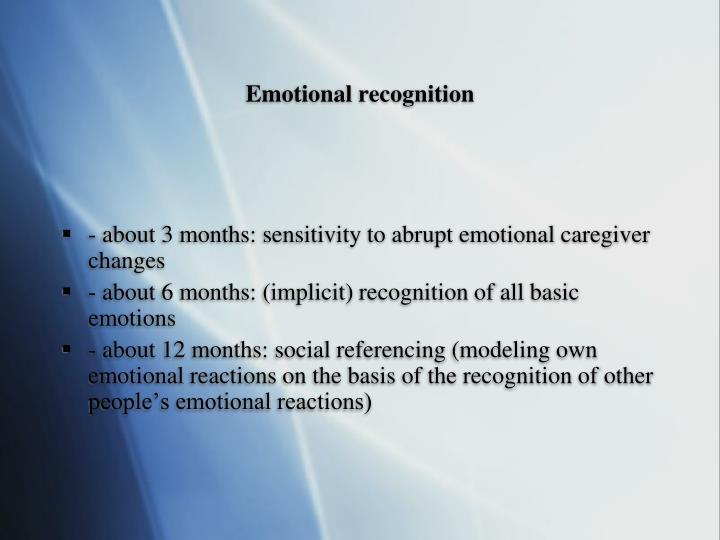 Emotional recognition