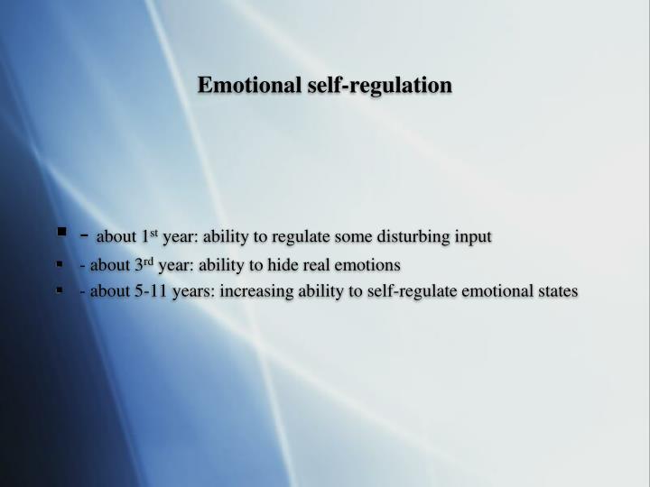 Emotional self-regulation