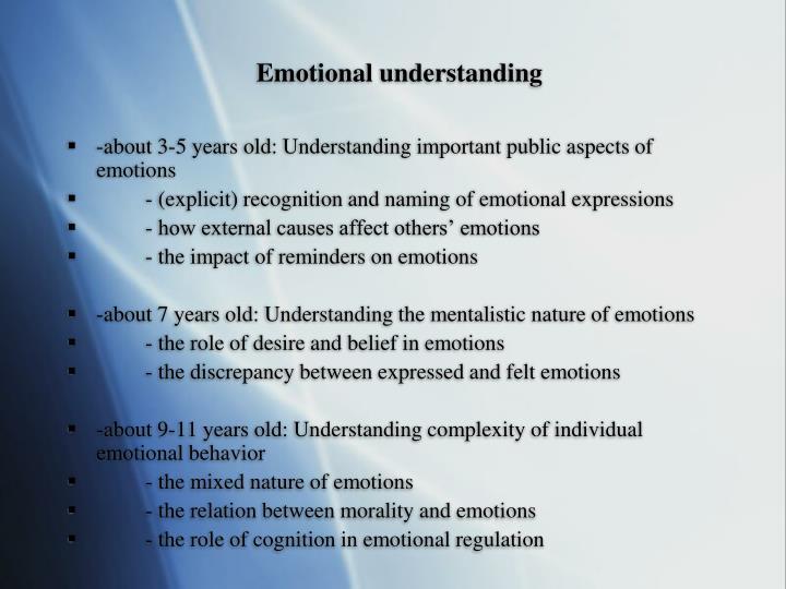 Emotional understanding
