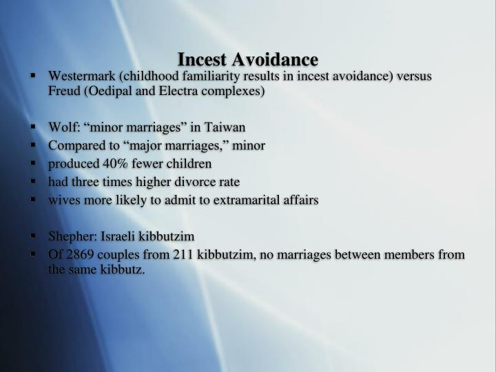 Incest Avoidance