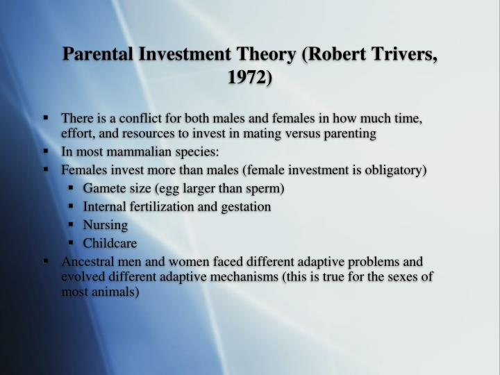 Parental Investment Theory (Robert Trivers, 1972)