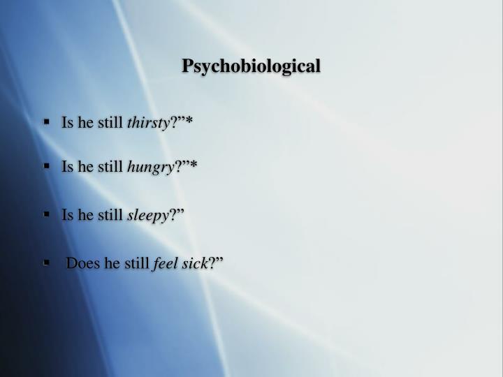 Psychobiological